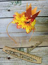 Осенний ободок корона. Королева осени. Ручная работа