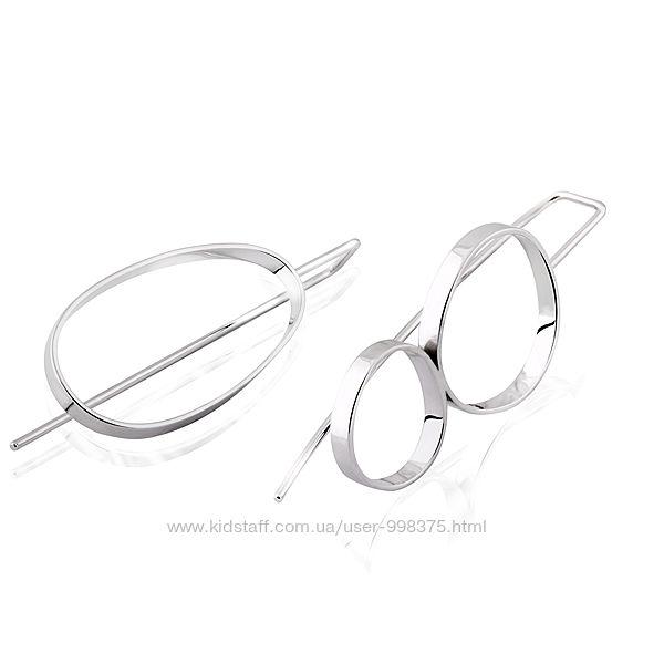 Серебряные серьги Асимметричные