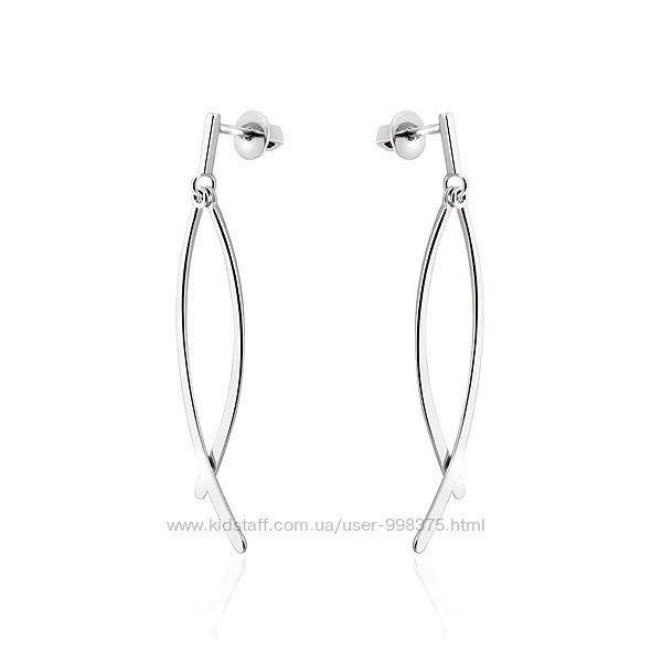 Серебряные серьги- гвоздики