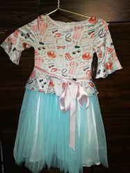 Нарядное платье на рост 122 см