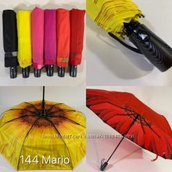 Шикарный крепкий женский зонт полуавтомат двойная ткань. Красивенный