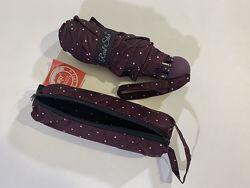 Детский складной подростковый мини зонт в чехле- пенале для девочки