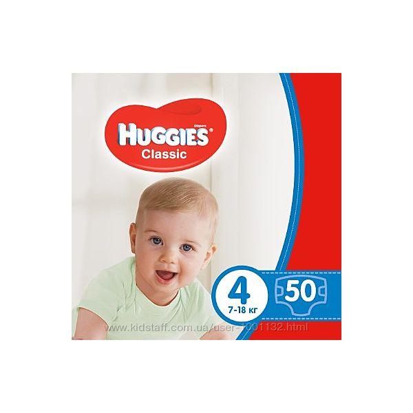 Huggies Classic  підгузники 3 4 5