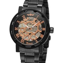 Механические часы - WINNER Skeleton Simple - Стальной браслет - Новые