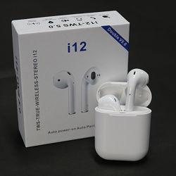 Сенсорные Беспроводные Наушники Apple AirPods i12 TWS Bluetooth -Супер Басс