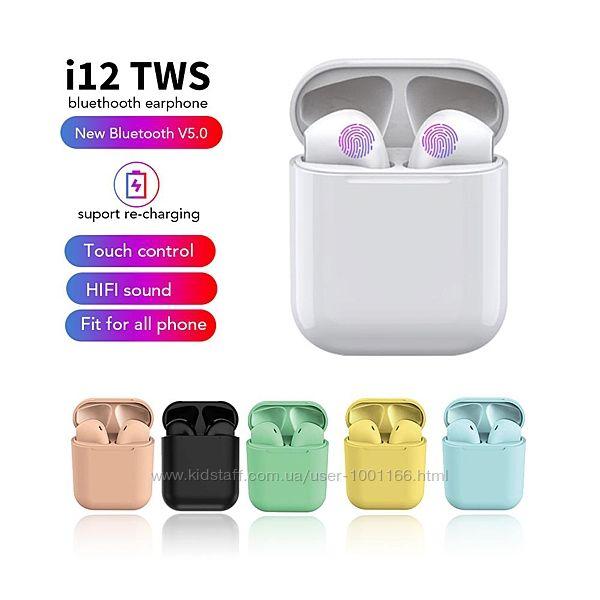 Беспроводные Наушники Apple AirPods i12 TWS Bluetooth - Сенсорные