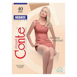 Плотные эластичные шелковистые колготки NUANCE 40 den ТМ Conte. Низкие цены