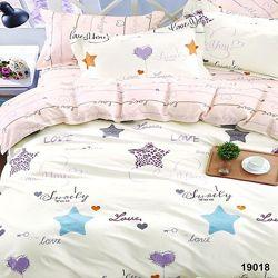 Подростковое полуторное постельное белье Viluta ранфорс 19018 звездочки