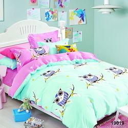 Подростковое полуторное постельное белье Viluta ранфорс 19019 совушки