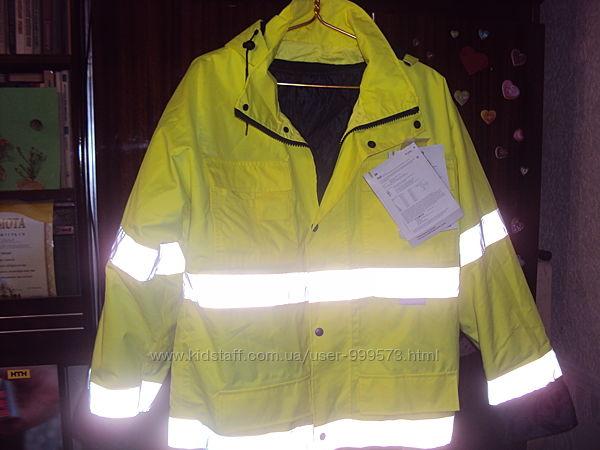 Зимняя мужская куртка - парка со светотражателями,  с подстежкой