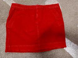 Женская джинсовая юбка морковного цвета Gap р-р S-M