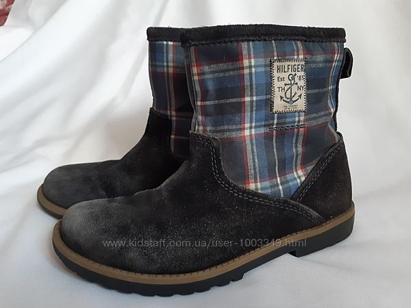 Ботинки Tommy Hilfager для мальчика на молнии из замши