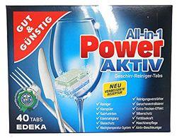 Таблетки для посудомоечной машины G&G Power-Aktiv 40шт. Германия