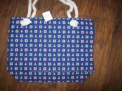 текстильная сумка на канатах