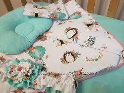 Набір текстилю у ліжечко та візочок