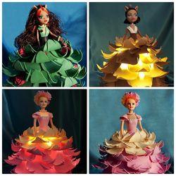 Настольный светильник - кукла