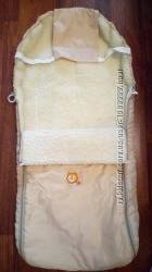 Чехол конверт на овчине на санки в коляску