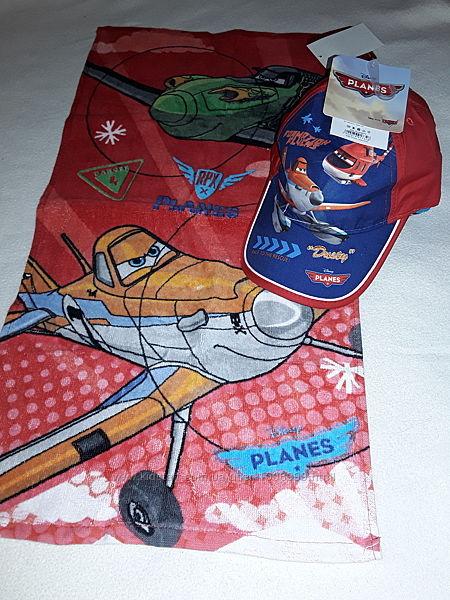 Набор для мальчика 4-10 лет,  кепка хлопок  полотенце Самолёты Planes.
