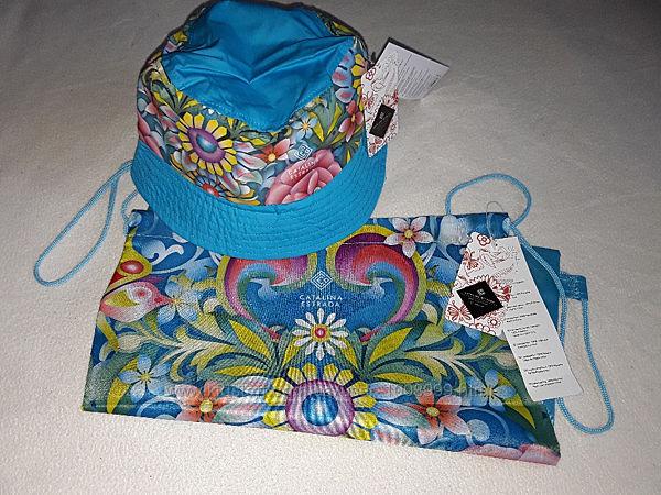 Стильный летний набор панамка плюс рюкзак на 5-12 лет девочке.