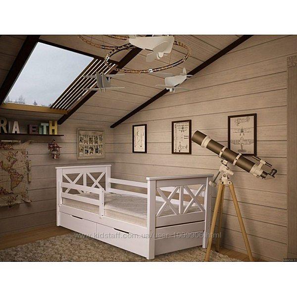 Кровать детская подростковая из дерева бук домик