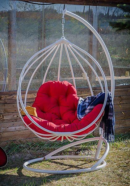 Подвесной кокон кресло качель из плетенного ротанга