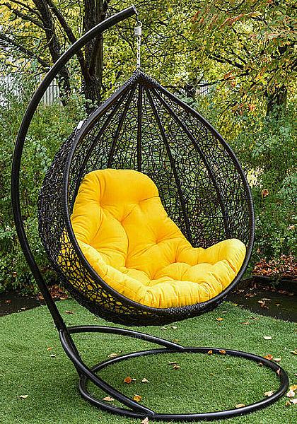 Кокон качеля кресло подвесное из искусственного ротанга