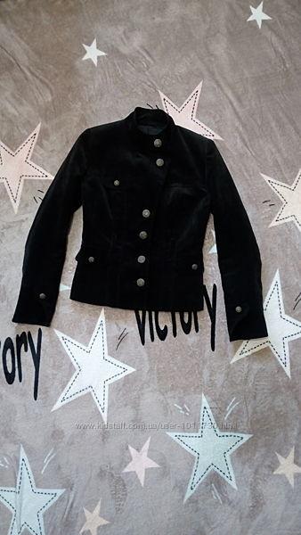 Куртка-пиджак черная, вельвет