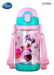 Детская бутылочка для воды с ремешком Disney, 520 мл