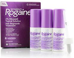 Лосьон Регейн Rogaine Миноксидил 2 для женщин рост волос 3 флакона из США