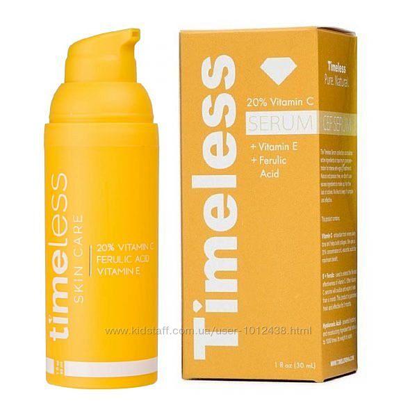 Антивозрастная сыворотка феруловая кислота, витамины С, E Timeless 30мл