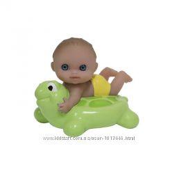 Пупс-Малыш JC Toys плавающий с матрасом, черепахой, кругом