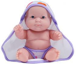 JC Пупс Боб з фиолетовым полотенцем, 20 см. Распродажа остатков