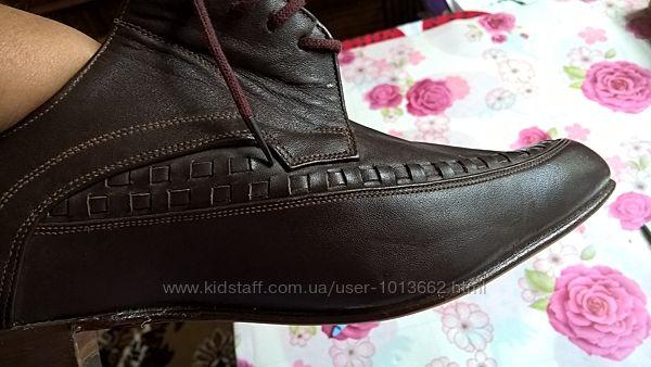 Мужские кожаные туфли 46 р.