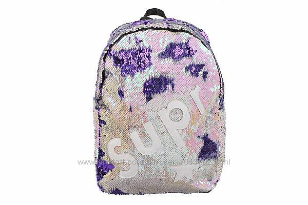 Рюкзак с пайетками Supr