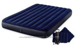 Надувной матрац 64765 Intex 152х203х25 см с двумя подушками, ручным насосом