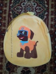 Мягкий детский рюкзак для мальчиков и девочек дошкольников Щенячий патруль