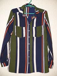 Стильная блузка, рубашка в полоски Cameo Rose