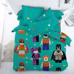 Подростковое постельное белье Фигурки Лего поплин, 100 хлопок