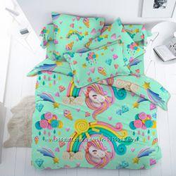 Единороги Арт - постельное белье для девочек поплин, 100 хлопок