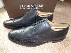 Новые мужские кожаные туфли оксфорды Florsheim Finley Wing