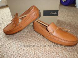 Новые мужские кожаные мокасины Clarks Benero Edge