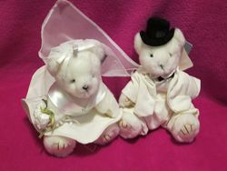 Свадебная пара. весільна пара. ведмідь. мишка. мягкие игрушки. мягка іграшка.
