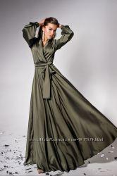 Эффектное королевское макси платье S-XL