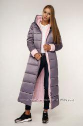 Куртка зима длинная с капюшоном цвета р. 44-54