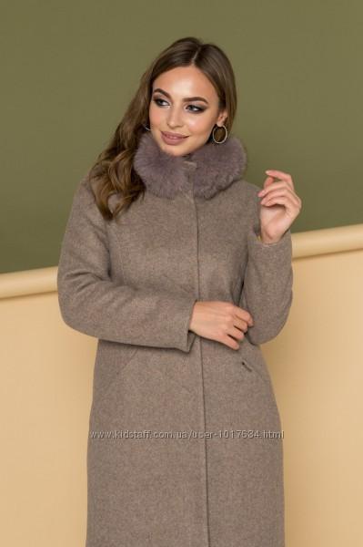 Пальто зимнее с натуральным мехом рр. 42-50