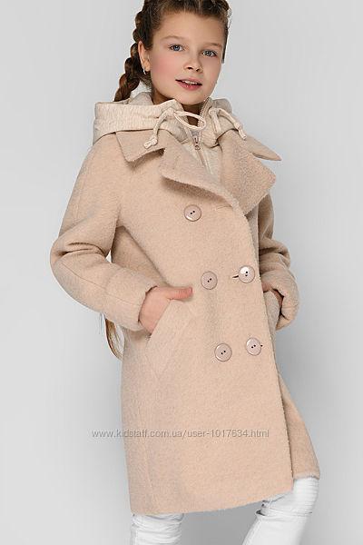 Стильное пальто деми интересное рр. 32-42