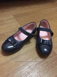 Кожаные школьные туфли 32-33 размеры