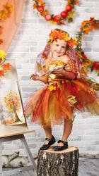 Карнавальный костюм осени, королевы осени, осенний лист