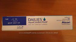 Контактные линзы однодневки Dailies Aqua Comfort Plus -5. 25