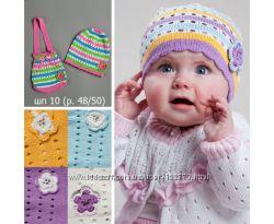 Шапочка весення летняя с сумочкой для девочки на 1-2 года 48-50 шапка